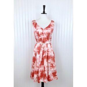 Calvin Klein • Pink White Fit & Flare Dress • 12